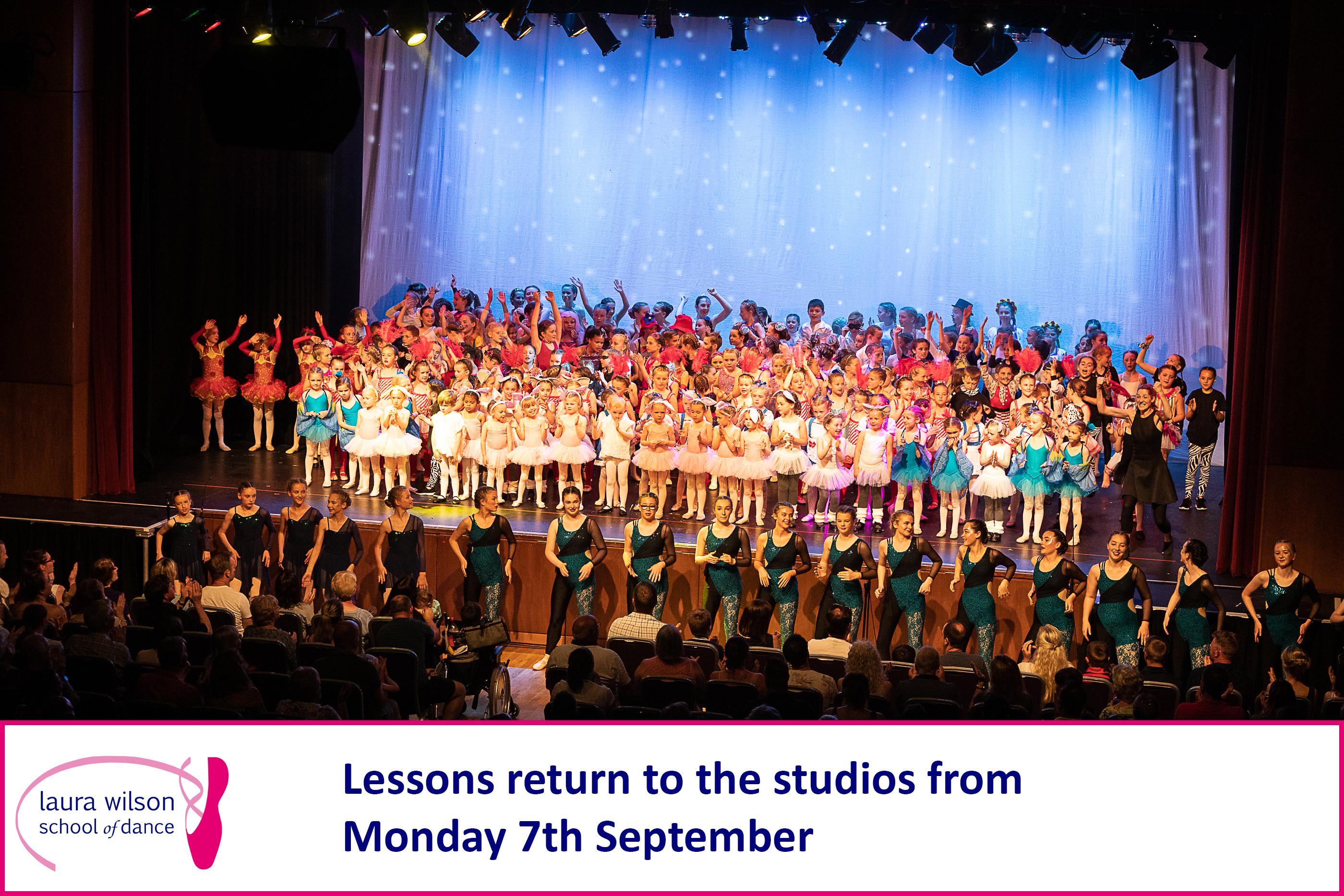 Lessons return on 7th September